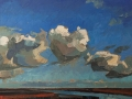 104 Cloud Study No.6 - Lockwood - 50x61cm oil on linen (landscape)