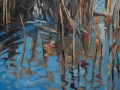 133 - Cley Reed Pool, Norfolk - Lockwood - 81x65cm - oil on canvas