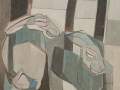 87 - Two Resting Hares-Lockwood-50x61cm oil on linen